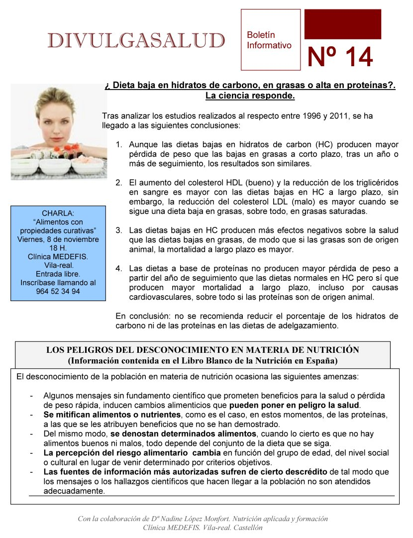 Boletin para Pacientes: DivulgaSalud 14